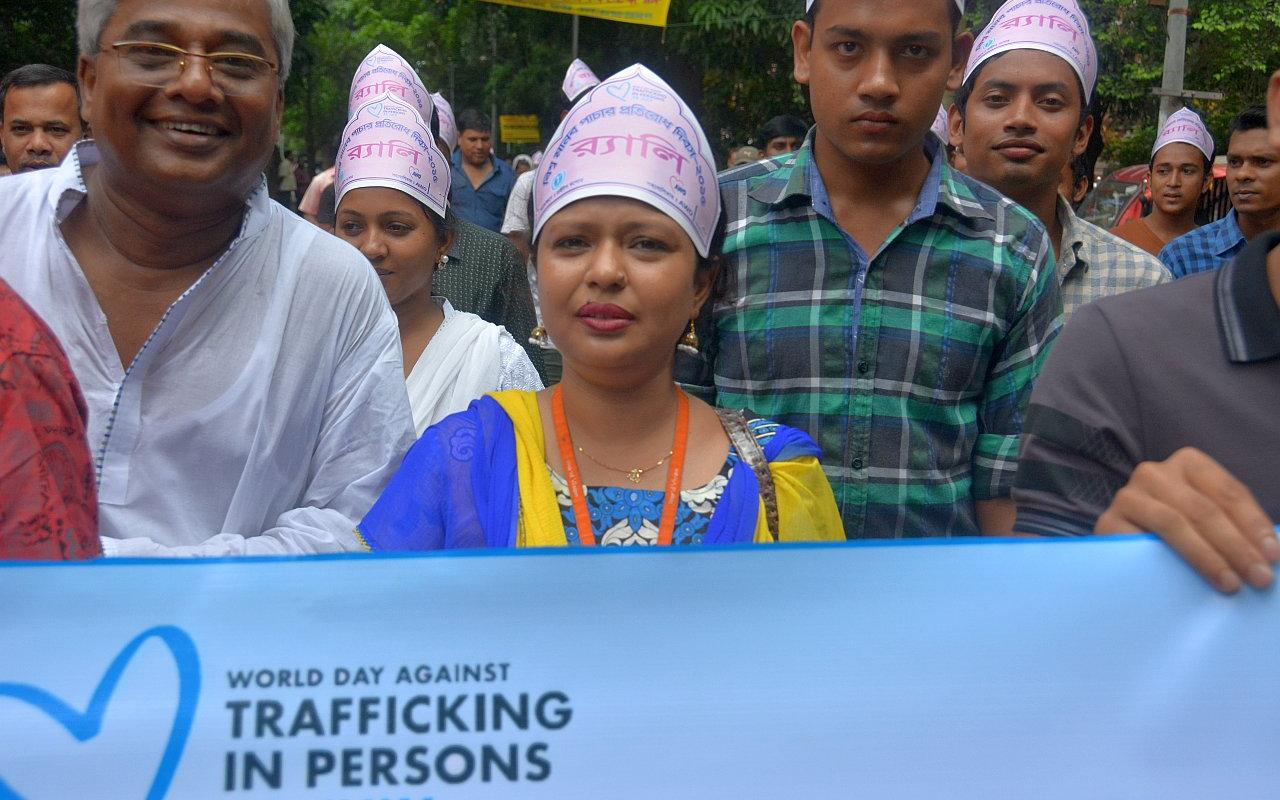 Together with our partner organisations, we promote safe migration and combat human trafficking. (Picture: AWO International)